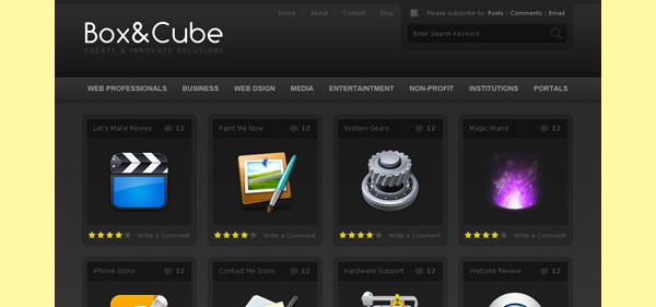 1280524284boxe 30 Free PSD Website Templates from 2010