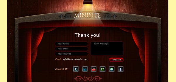 26 05 vcard minisite contact 30 Free PSD Website Templates from 2010