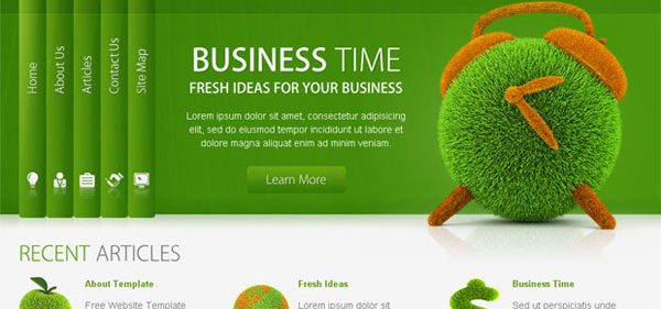 Free Site Templates. 30 free psd website templates from 2010. 20 ...