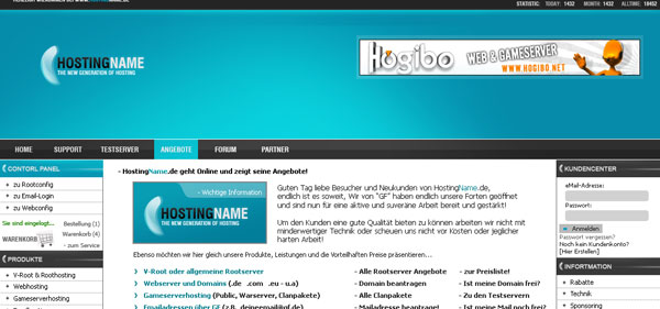 Hosting Template   Free PSD by un1x graffix 30 Free PSD Website Templates from 2010