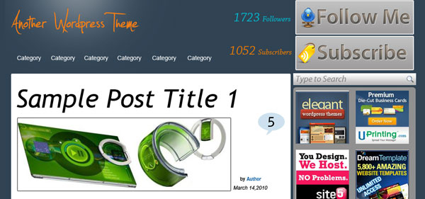 Untitled 124 30 Free PSD Website Templates from 2010