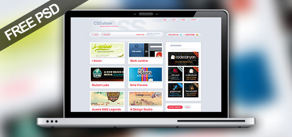 csspromo 30 Free PSD Website Templates from 2010