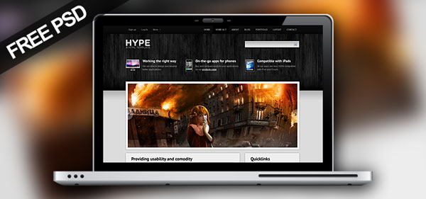 hypepromo 30 Free PSD Website Templates from 2010