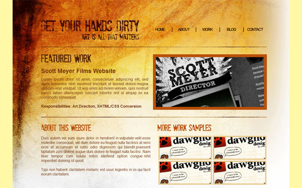 31 02 grunge xhtml preview 17 More PSD To HTML Tutorials