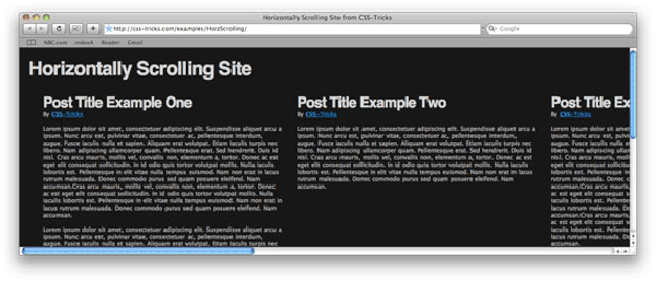 horzscrolling 17 More PSD To HTML Tutorials