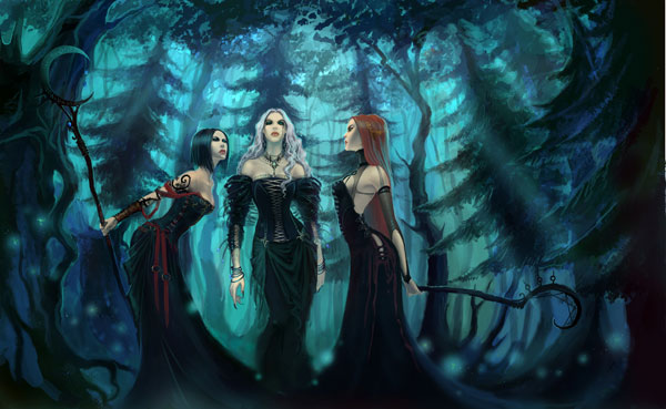 Witches blues by anndr Groovy Art by AnnDR   I.D. 73