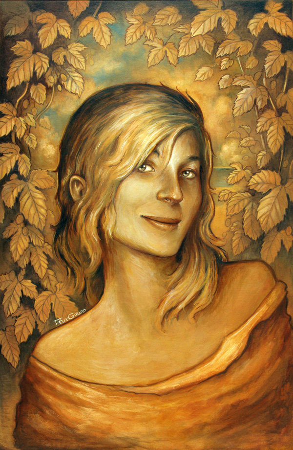 La Mondaine blonde by felixgi Paintings by Felix Girard (Canada)   I.D. 60