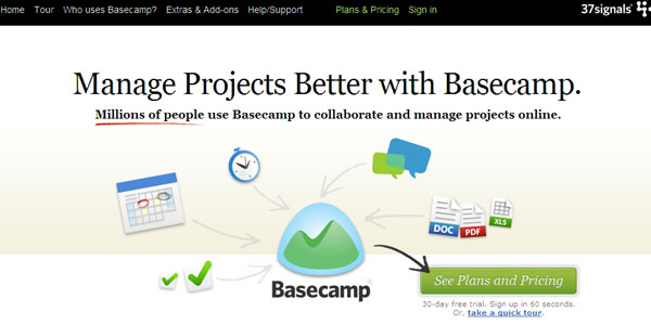 basecamp 27 Awesome Landing Pages