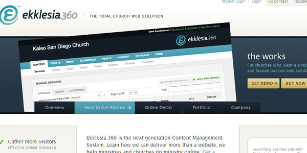 ekklesia360 27 Awesome Landing Pages
