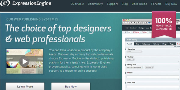 expressionengine 27 Awesome Landing Pages