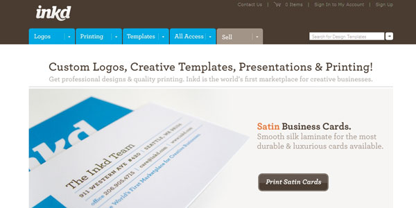 inkd 27 Awesome Landing Pages