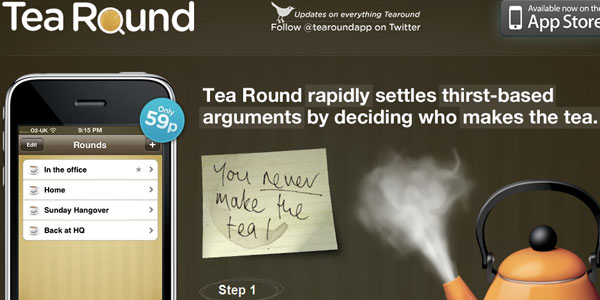 tea round 27 Awesome Landing Pages