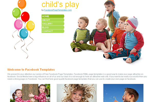 Child's Play free website template