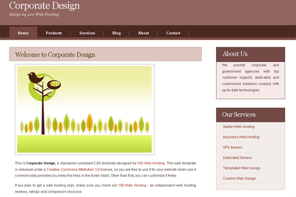 Corporate Design free website template