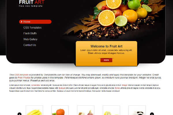 Fruit Art free website template
