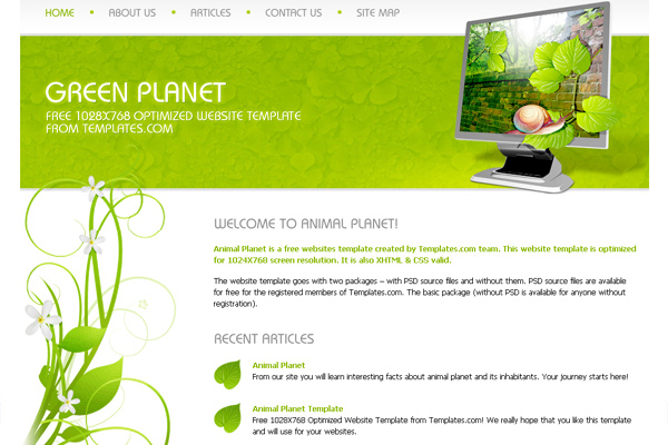 Green Planet free website template