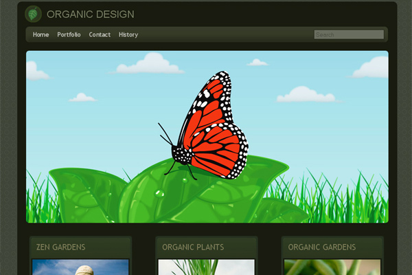 Organic Design free website template
