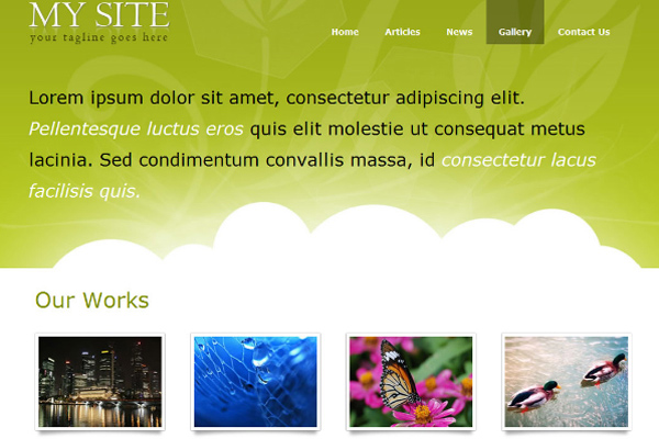 Portfolio free website template