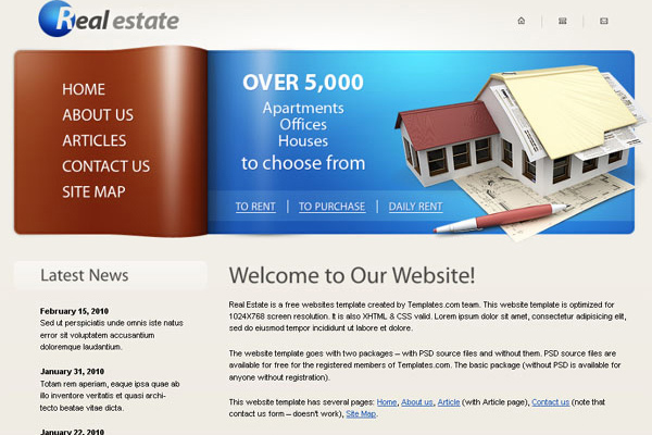 Real Estate (Clean) free website template