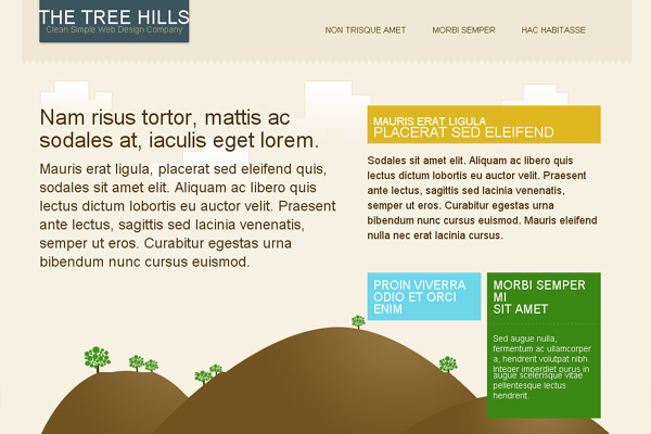 Tree Hills free website template