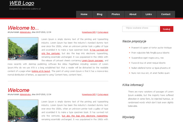 Weblogo free website template