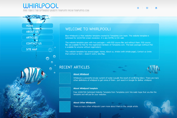 Whirpool free website template