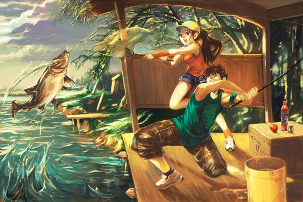 Fishing by alex tuan Great Artworks by Alex Tuan   I.D. 81