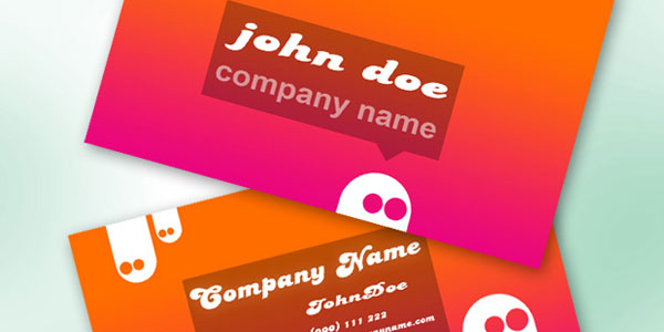 Cartoon Free Business Cards