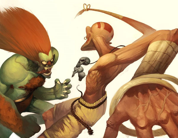 Blanka and Dhalsim by GH Graphics Garrett Hannas Amazing Work   I.D. 84