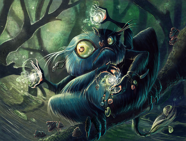 Small Swamp Sorcerer by Grey Seagull Gratifying Art by Grey Seagull   I.D. 88