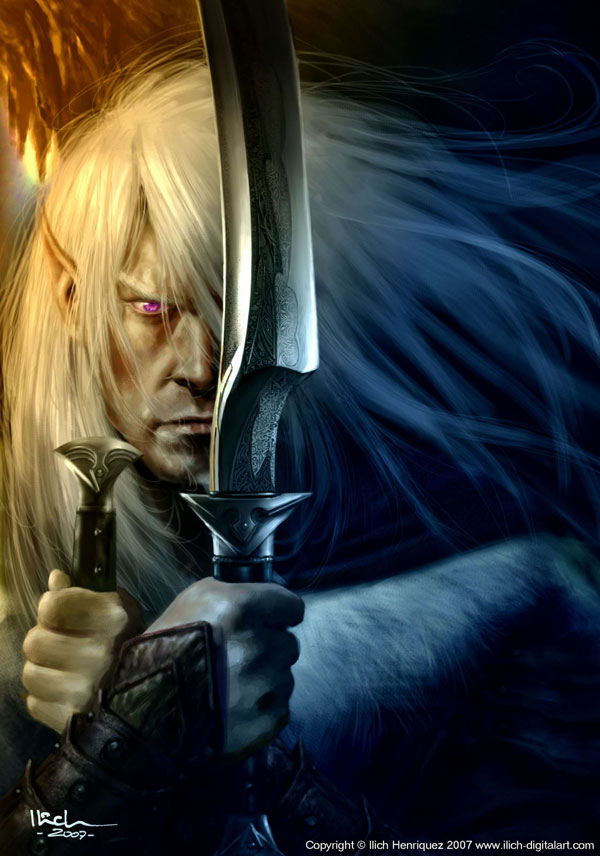 Drizzt Do  Urden by Ilacha Impressive Art of Ilich Henriquez   I.D. 82