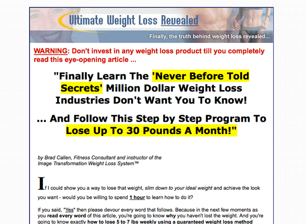 Free Weight Loss Revealed