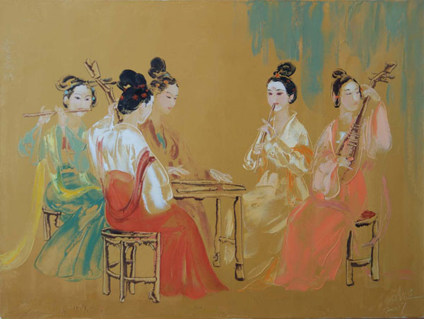 2010012615132977 Chinese Paintings of Liu Wenjin   I.D. 85