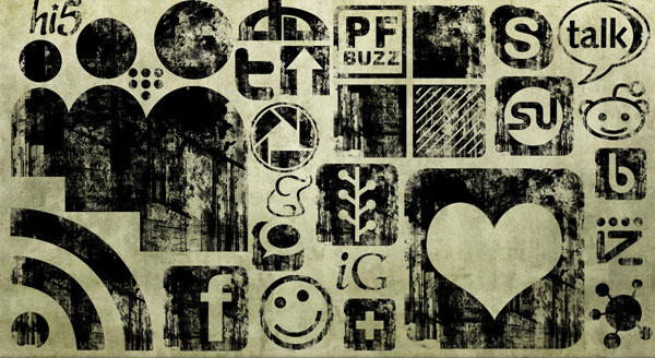 01 black ink grunge stamp texture social media icons webtreats preview 84 Massive Social Media Icon Collection