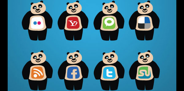 28 02 panda social network icons preview 84 Massive Social Media Icon Collection