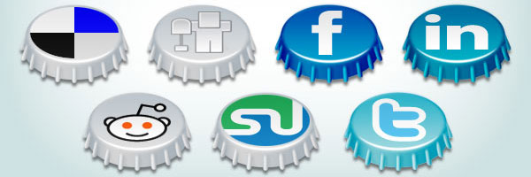 Beer Cap social icons 84 Massive Social Media Icon Collection