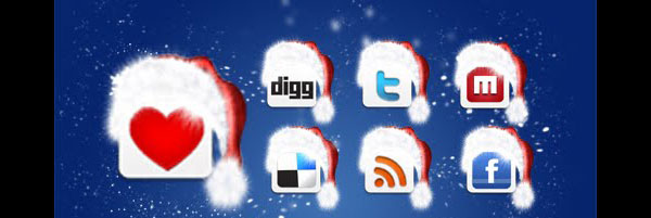 Christmas Special 84 Massive Social Media Icon Collection