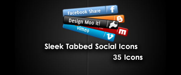 Sleek Social Network tab icons