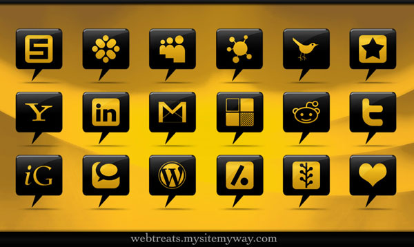 Social Media Comment Bubbles by WebTreatsETC 84 Massive Social Media Icon Collection