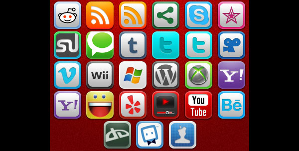 Social and Web Icons by umar123 84 Massive Social Media Icon Collection
