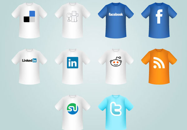 T shirt social icons title 84 Massive Social Media Icon Collection