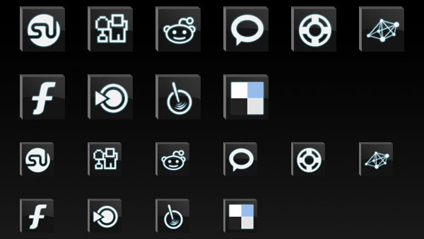 bevel dark 84 Massive Social Media Icon Collection