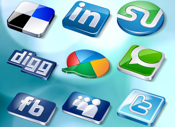 Social Buzz Icon Set