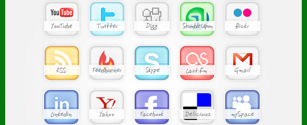 glossy preview 84 Massive Social Media Icon Collection