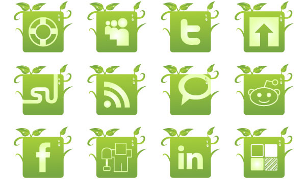green thumb preview 84 Massive Social Media Icon Collection