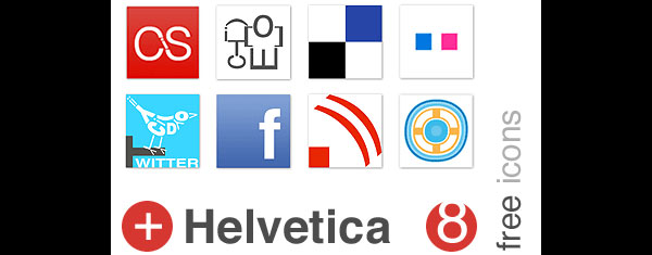 helvetica typography icons post1 84 Massive Social Media Icon Collection