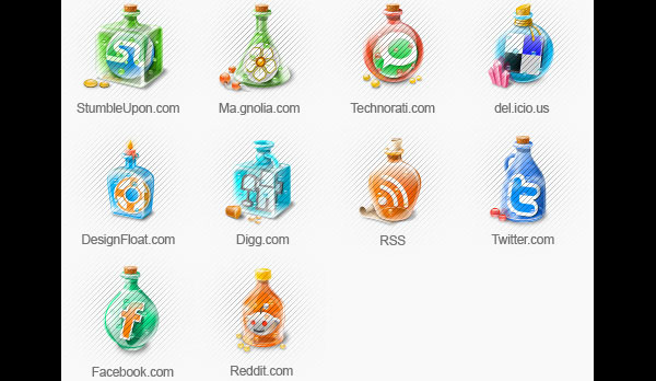 Icon set for bloggers