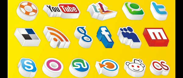 Amazing 3D Social Icons
