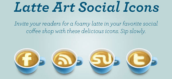 latte art title card 84 Massive Social Media Icon Collection