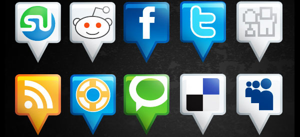 location social media icons 84 Massive Social Media Icon Collection